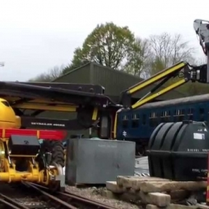 More road-rail vehicle Testing at Wirksworth - YouTube
