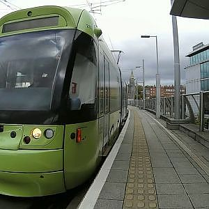 Nottingham Station Trams - YouTube